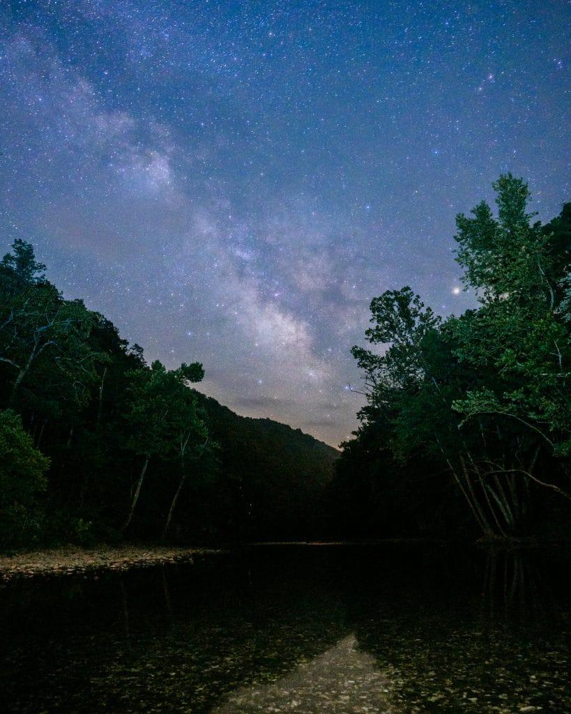 Milky Way over the Buffalo River