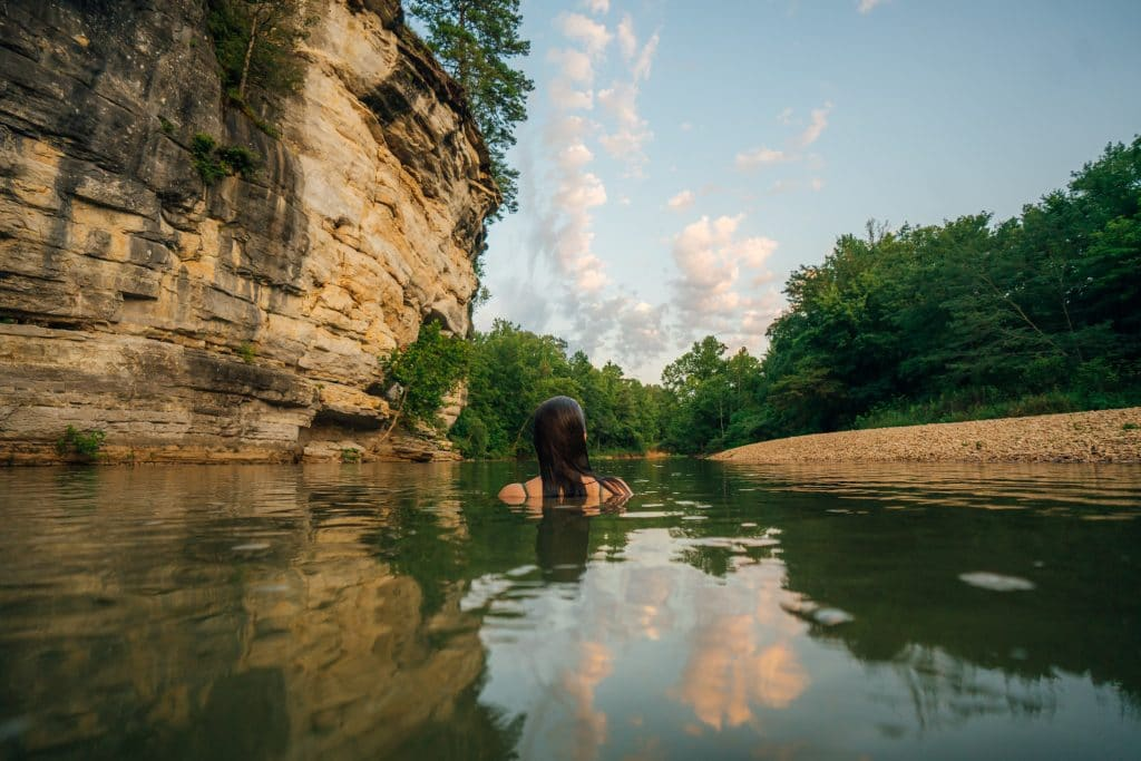 Swimming hole at Ozark Campground